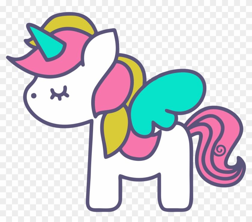 Clipart De Unicornios Para Scrapbook - Baby Unicorn Vector Free #331495