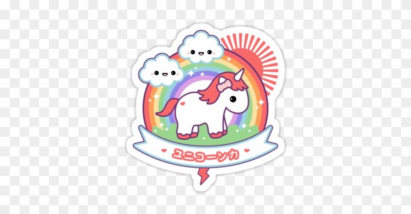 Super Cute Baby Rainbow Unicorn Stickers - Kawaii Unicorn Stickers #331501