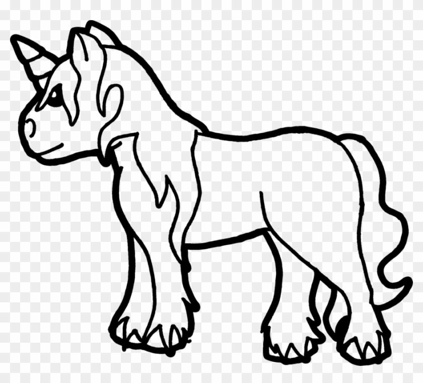 Unicorn Coloring Page By Sarrel On Deviantart Baby Unicorn