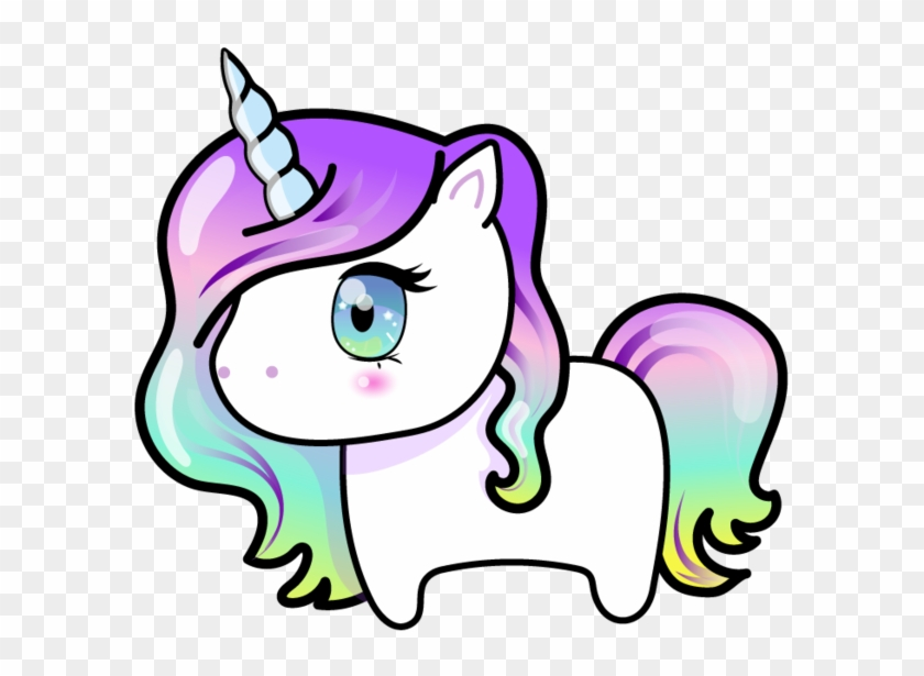 Kawaii Unicorn With Rainbow Hair By Barovlud - Kawaii Unicorn With Rainbow Hair #331539