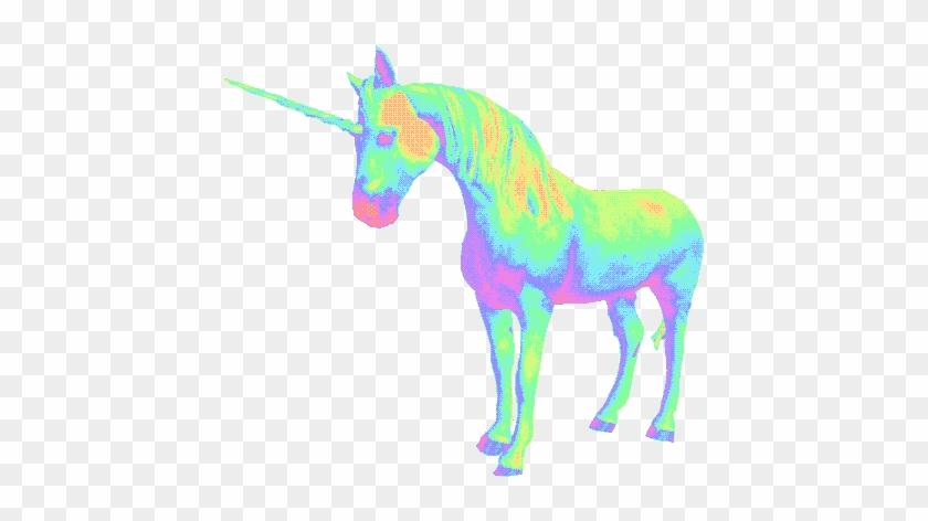 Holografic Unicorn Unicornio Psicodelic Tumblr Holográf - Unicorn Vaporwave #331660