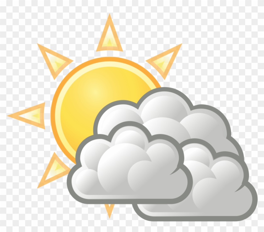Sunny Clipart Weather Forecast Symbol - Partly Cloudy Weather Symbol #331755