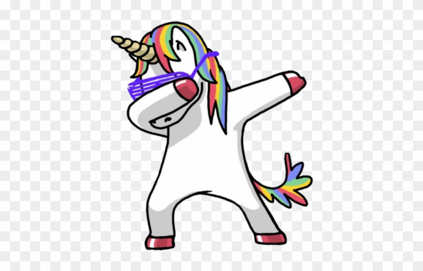Emojiface Unicorn Unicornio Magic Magico Emoji Emoticon - Unicorn Dabbing #331792