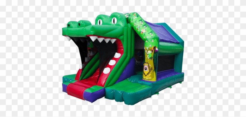 Croco Front Slide Bouncy Castle - Castle #332158