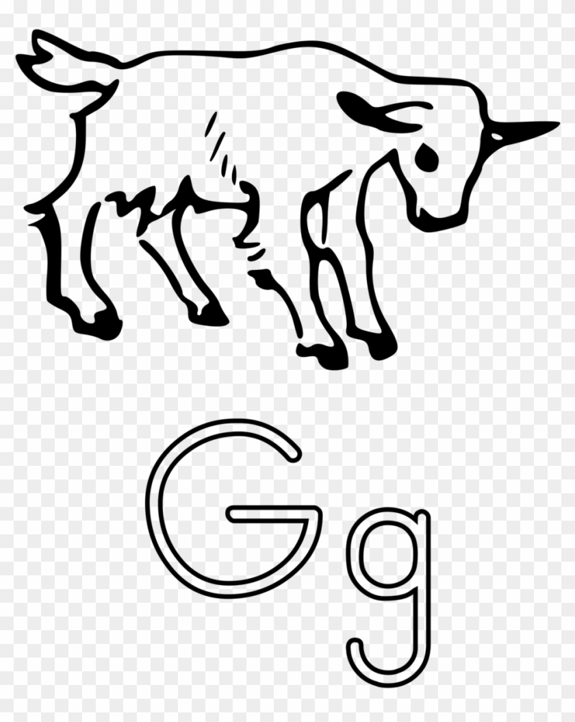 Letters Free Stock Photo Illustration Of The Letter - Outline Of A Goat #332627