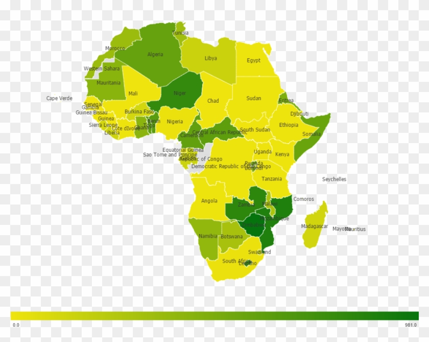 Countries In Africa Have A Diverse Distribution Of - Africa Map #332709