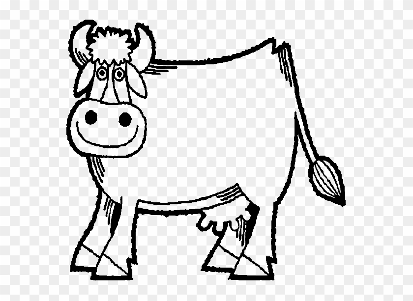 Inek-4 - Farm Animals Outline Drawing #332881