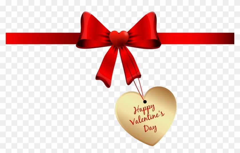 Ribbon Clipart Valentine Happy Valentines Day Logo Png Free
