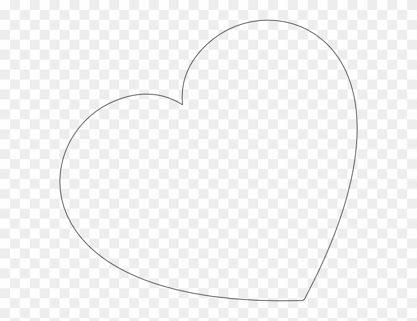 big heart template heart outline with transparent background