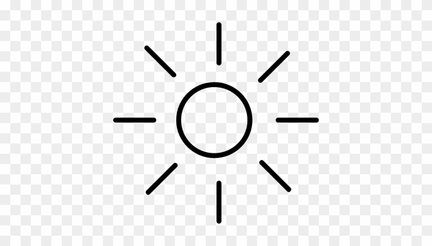 shining sun with rays silhouette vector circle free transparent