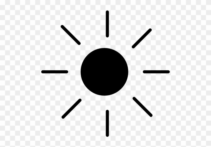 Shining Sun With Rays Free Icon - Silueta Del Sol Png #333219