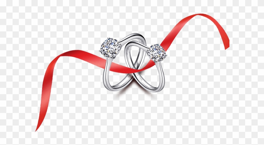 Wedding Ring Marriage Wedding Ring On A Ribbon Vector Free