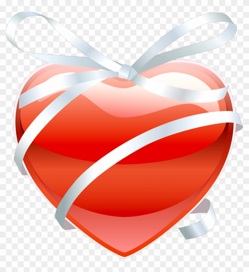 Red Heart With Ribbon - Love You And Miss You Hearts #333532