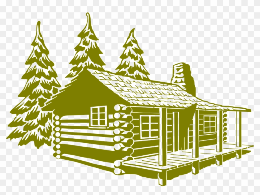 House On Fire Clipart 15, - Log Home Exterior Drawing #333596