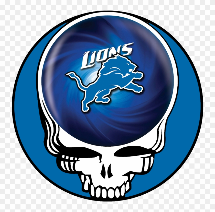 Detroit Lions Skull Logo Decals Stickers - Grateful Dead Steal Your Face Pink Floyd #333731