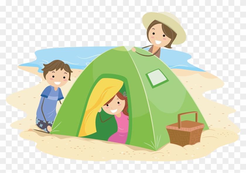 Mckinney Family Camping Camping With Family Cartoon Free Transparent Png Clipart Images Download
