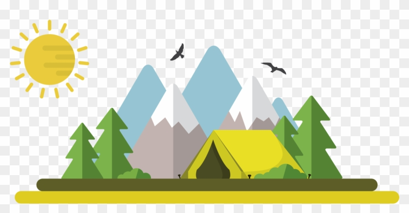 Camping Tent Illustration - Camping Night Png #334663