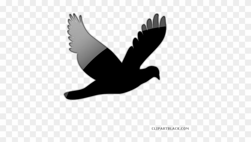 Flying Bird Animal Free Black White Clipart Images - Dove