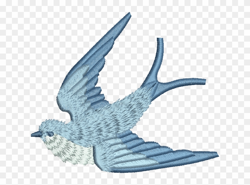 Blue bird embroidery design free transparent png clipart images
