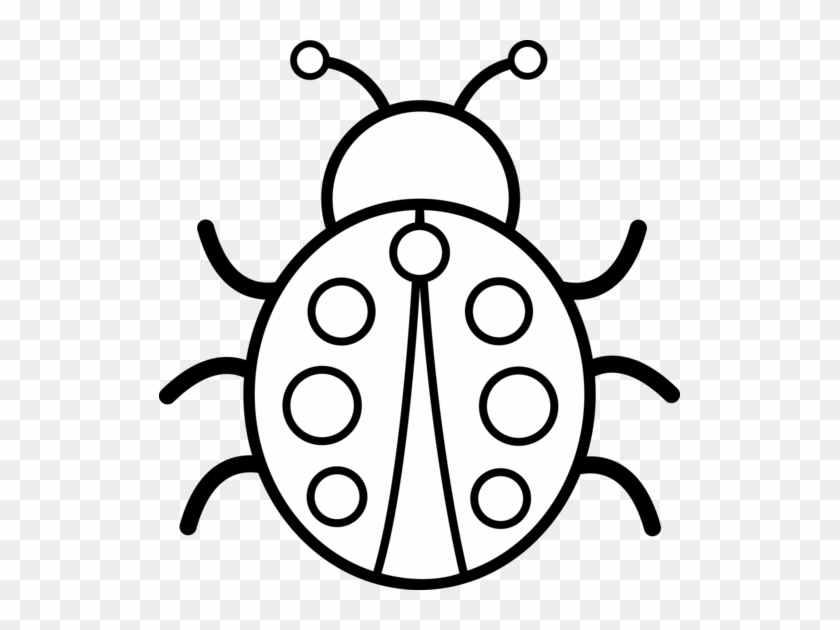 Free Ladybug Clip Art Black And White Cute Bug Embroidery Design Transparent Png Clipart Images Download