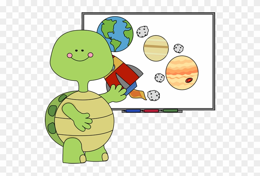 Animal Clipart Teacher Pencil And In Color For Teachers - Turtle Clipart School #335493