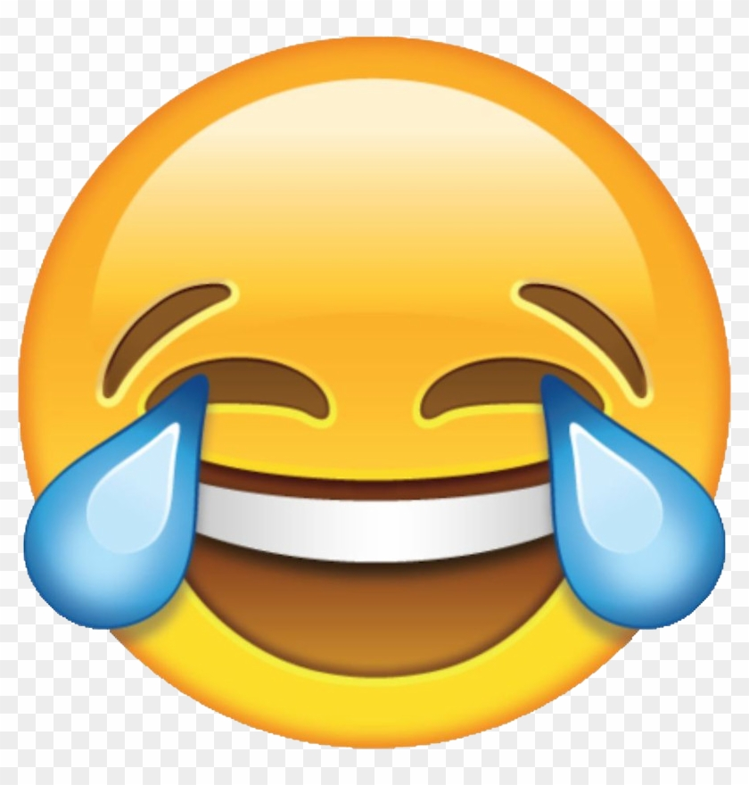 Laughter Face With Tears Of Joy Emoji Emoticon Clip - Crying Laughing Emoji #335637