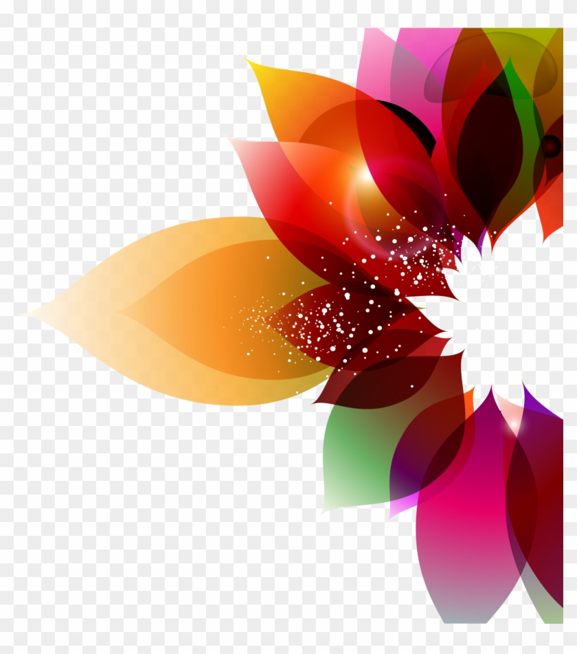 Color Flower Abstract Art Floral Design Colorful Background - Abstract Floral Background Floral Png Designs #335800