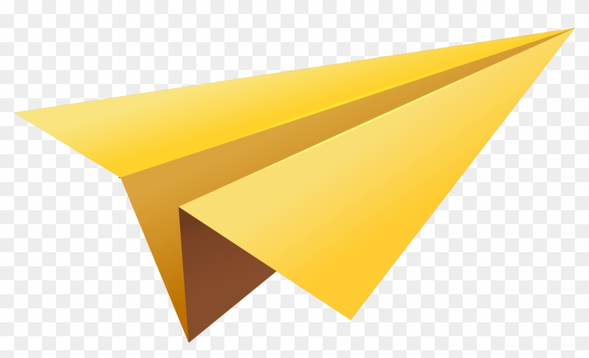 Paper Airplane Png - Yellow Paper Airplane Png #336341