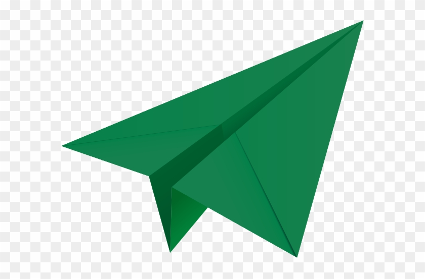 Clipart Info - Green Paper Airplane Icon #336347