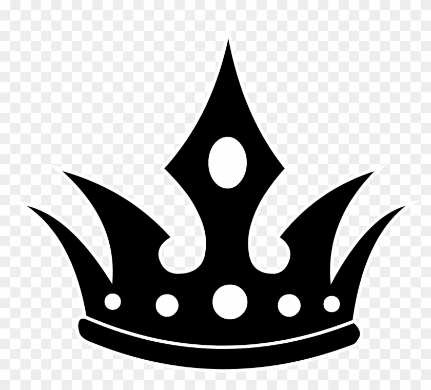 Queen Crown Clipart Black And - King Crown Vector Png #336995