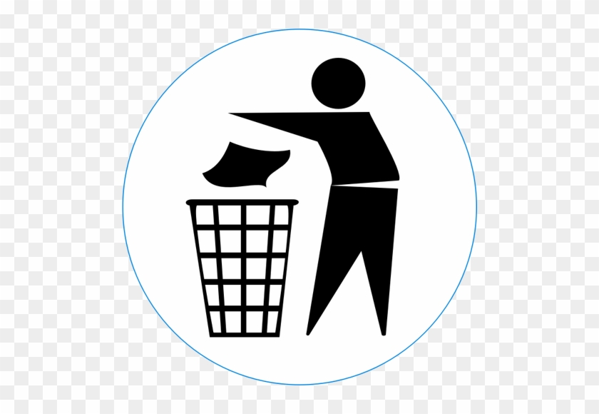 Vector Clip Art Of Dispose Of Rubbish In Bin Sign - Keep Your City Clean #337031