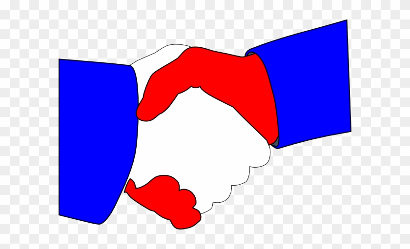 American Handshake Clip Art At Clker - Shake Hands Clipart Red Blue #337800