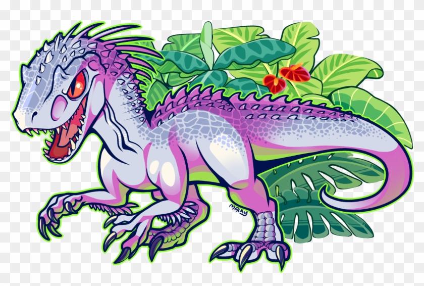 Cartoon Indominus Rex Jurassic World
