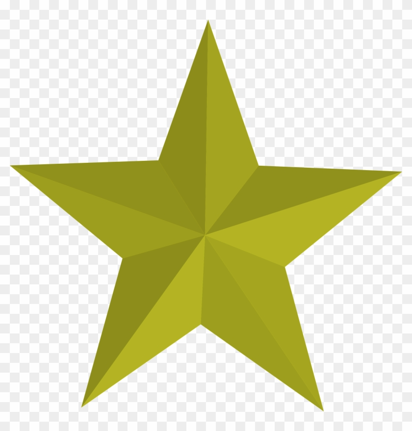 5 Star Clip Art With Pictures Medium Size - 3d Five Pointed Star #337963