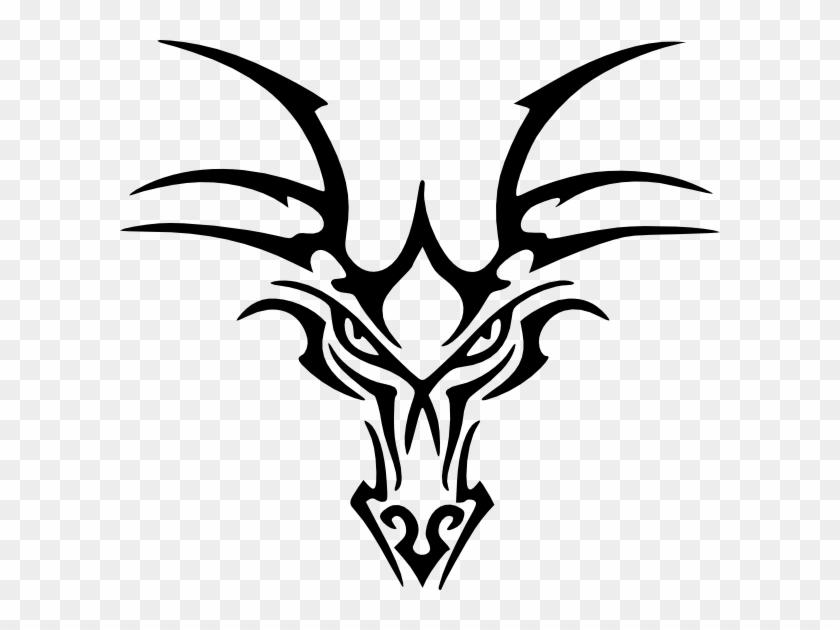 Tribal Dragon Head Tattoo #338220
