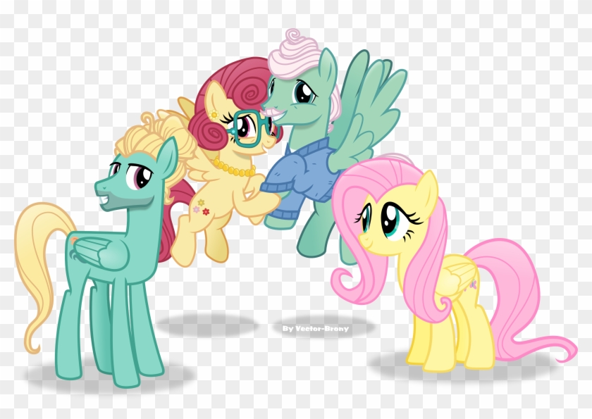 Fluttershy S Family By Vector Brony On Deviantart Rh - My Little Pony Fluttershy Family #338490