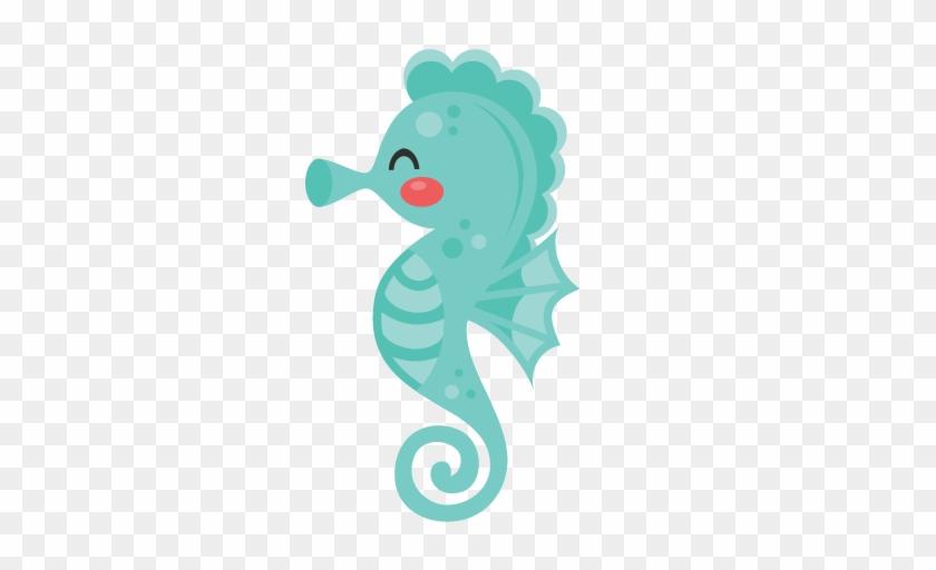 Seahorse Svg Scrapbook Cut File Cute Clipart Files - Sea Horse Clipart Cute #338602