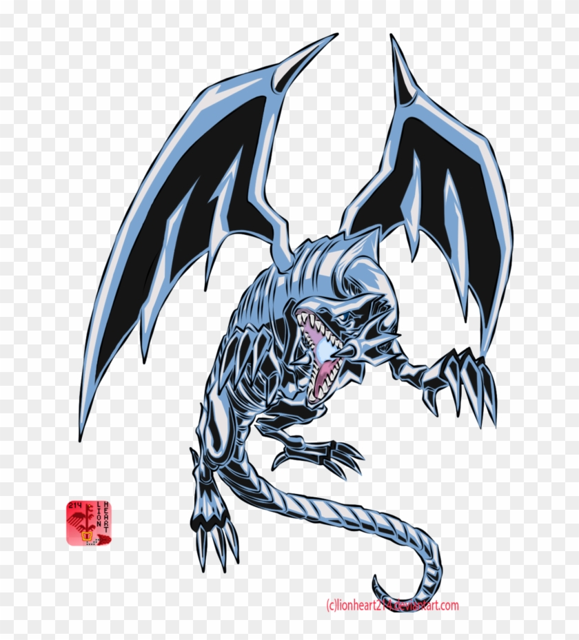 Blue-eyes White Dragon By Lionheart214 - Blue Eyes White Dragon Png #338613
