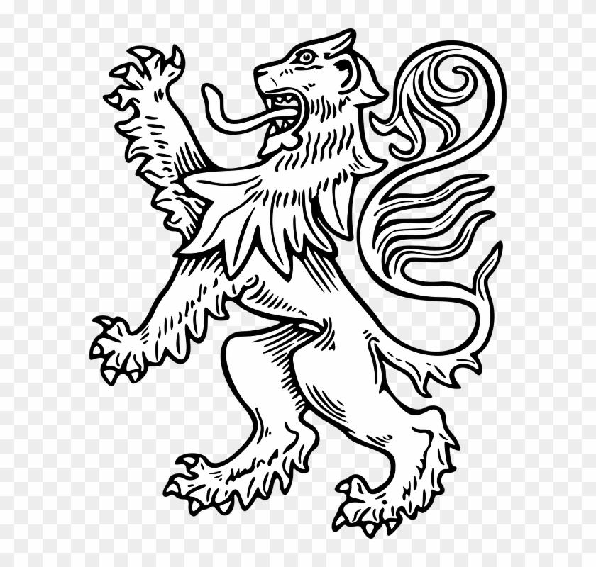 Lion Outline Cartoon – Geometric lion face outline ink geometric lion face tattoo on thigh.