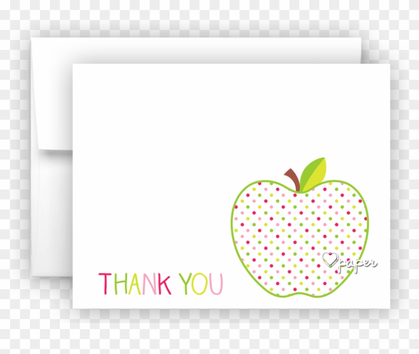 Polka Dot Apple Thank You Cards Note Card Stationery - Mcintosh #338688