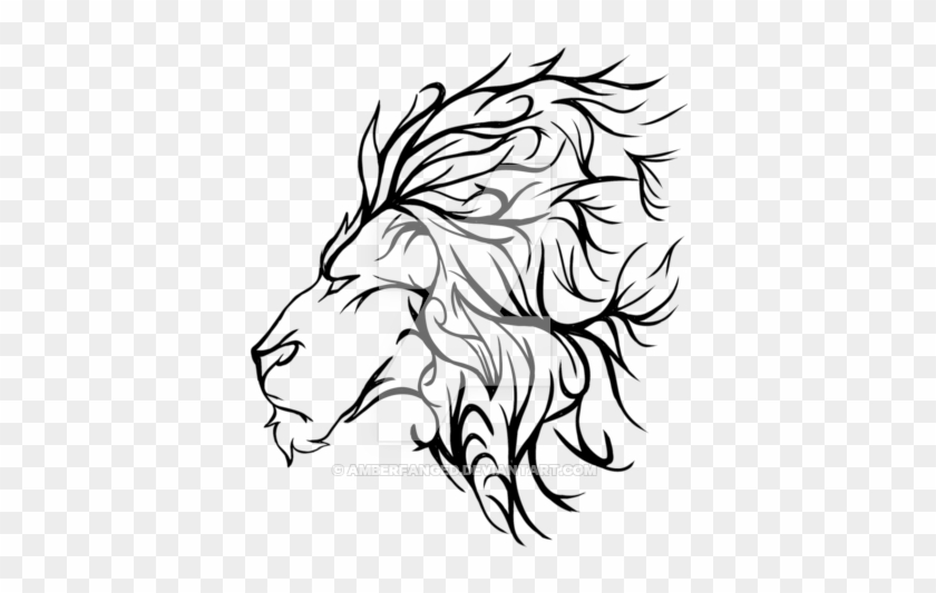 Best Ever Lion Outline Images - black wallpaper