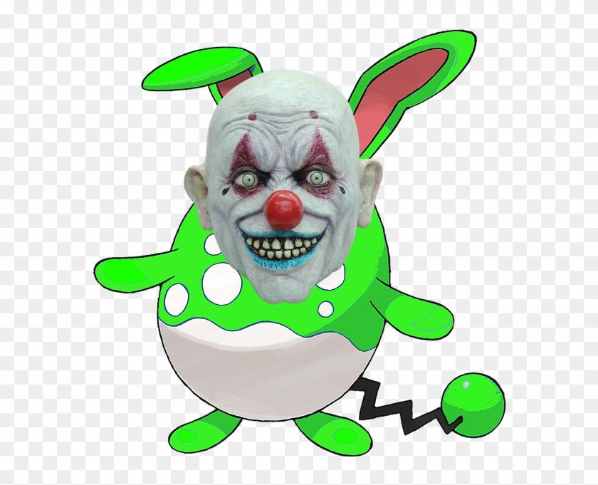 The Green Azumarill Is A Clown By Thegreenazumarill - Crappy The Clown Halloween Mask #338998