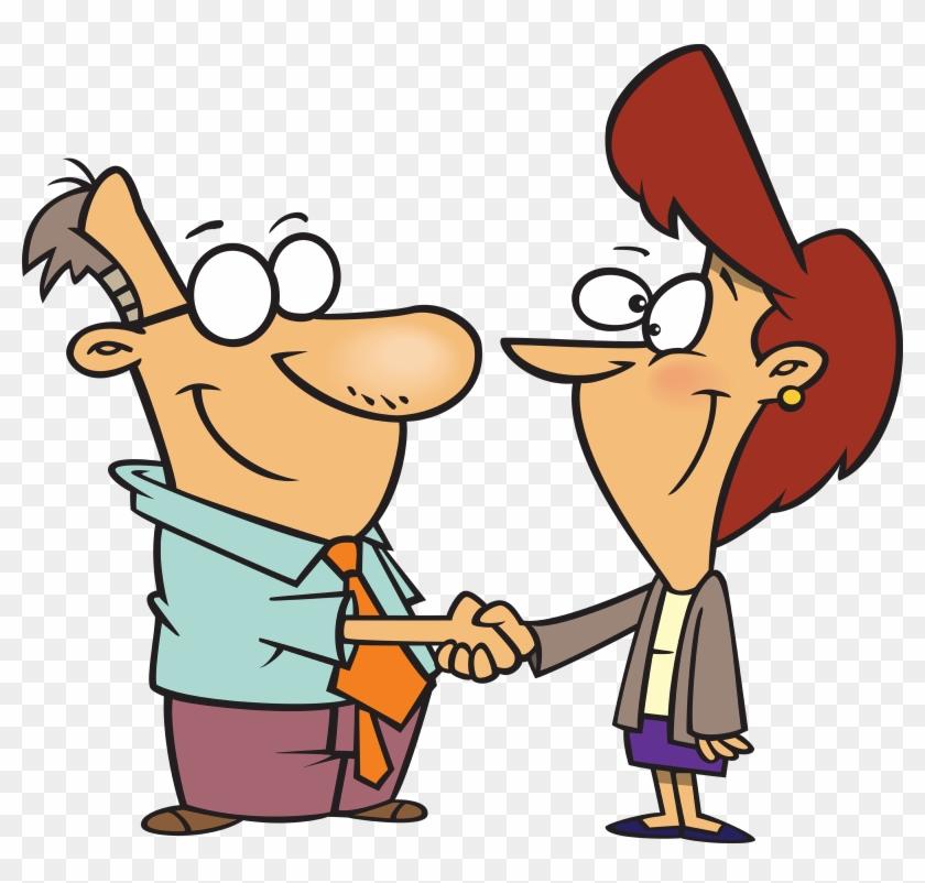 Handshake Cartoon Png #339009