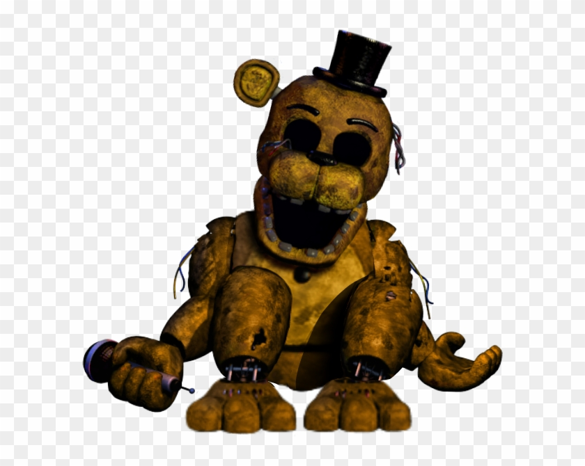 Withered Golden Freddy Thank You Image - Five Nights At Freddy's 2 Golden Freddy #339013