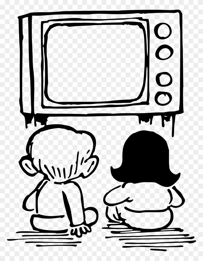Watching Tv - Watch Tv For Coloring #339143