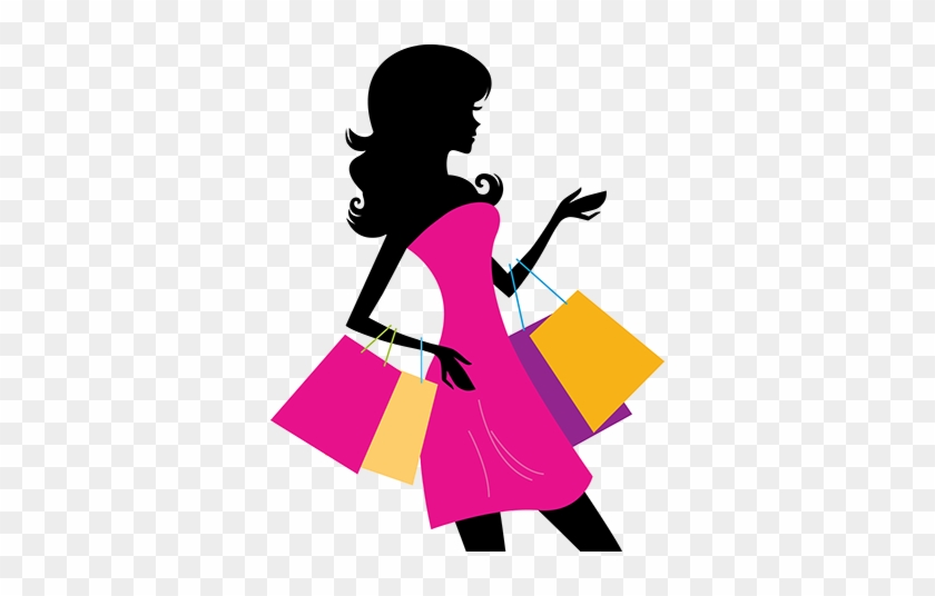 Thanks For Visiting Sandy Toes Boutique - Woman Shopping Silhouette Png #339174