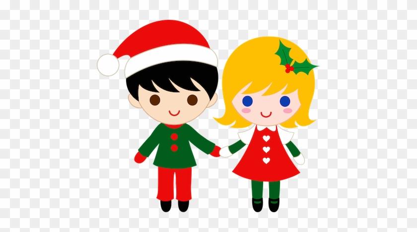 Resultado De Imagen De Navidad Png - Boy And Girl Holding Hands Clipart #339299