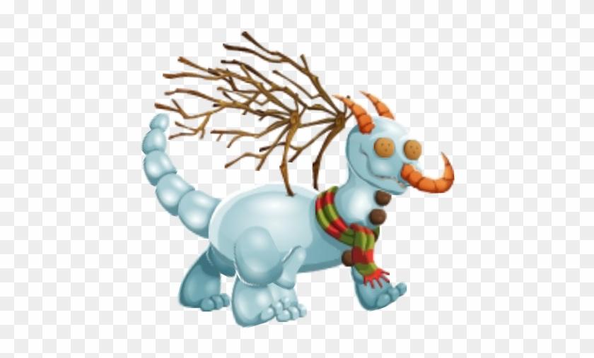 Snow Man Dragon 3b - Snowman Dragon Dragon City #339535