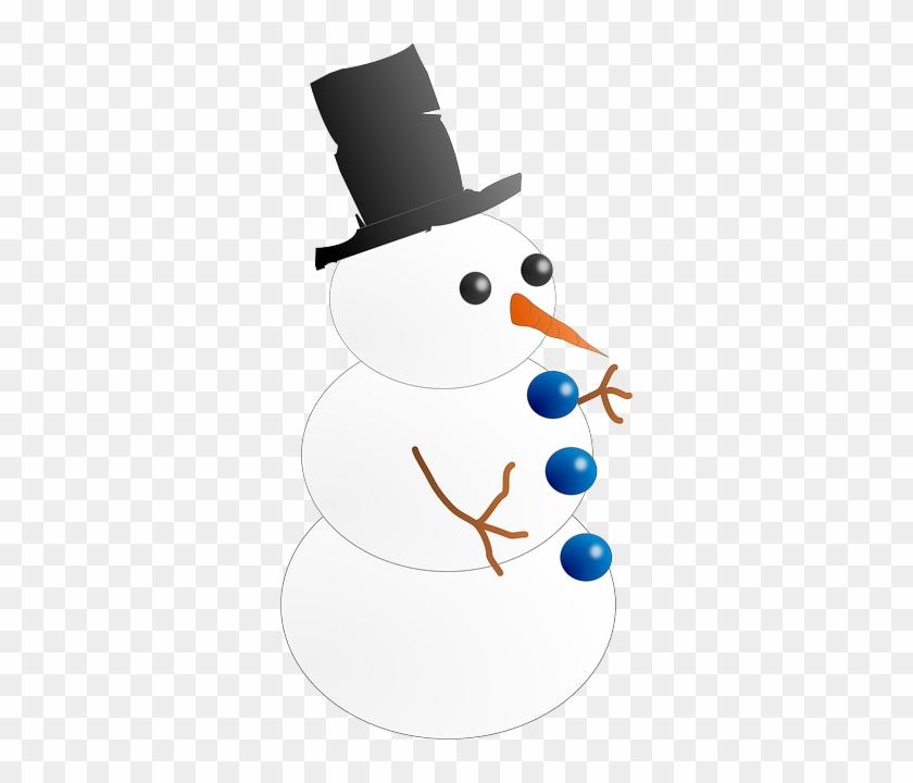 Snow Man Hombre De Nieve - Animated Clipart Snowman #339702