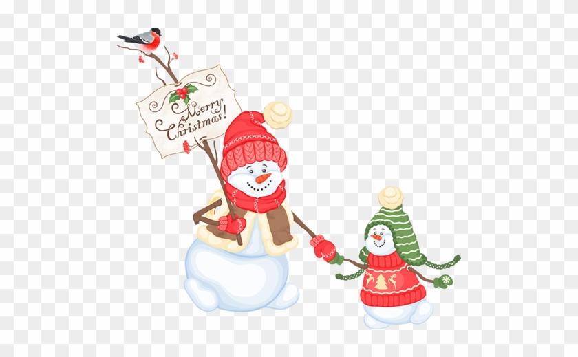 Tubes Noel / Bonhommes De Neiges - Painted Christmas Snowman #339892